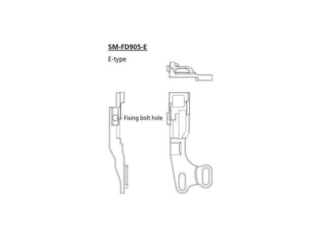Shimano XTR Umwerfer Adapter FD-9050/70 Di2 do bezpośredniego montażu  czarny